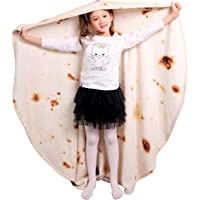 mermaker Burritos Tortilla Blanket 2.0 Double Sided 47 inches for Adult and Kids, Giant Funny Realistic Food Throw…