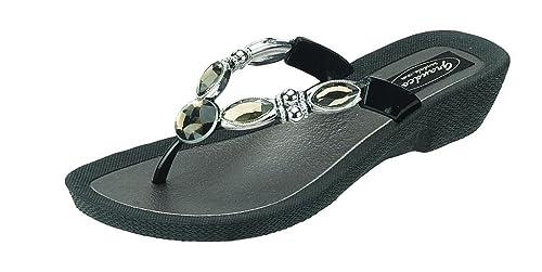 e45bb352d1ba Grandco 25416E Black Diamond 5 Thong  Amazon.ca  Shoes   Handbags