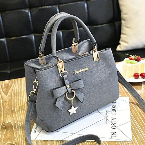 Messenger Shoulder Sonnena Handbag Bag Women Crossbody Satchel Leather Shoulder Gray wqttrXFxg6