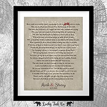 amazon com 8x10 unframed personalized mother of groom gift for