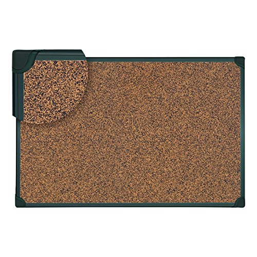 (Universal 43023 Tech Cork Board, 48 x 36, Cork, Black Frame)