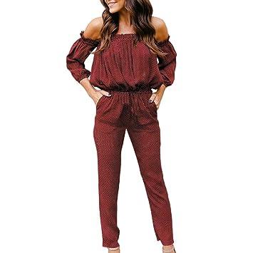 1481e09c94 JACKY-Store Women s Long Sleeve Jumpsuits Romper Off Shoulder Bodaycon Jumpsuit  Playsuit Long Pants Jumpsuits for Women Going Out Party Club Jumpsuits ...