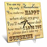 3dRose dc_79369_1 Vintage Songs You Are My Sunshine- Love Songs-Desk Clock, 6 by 6-Inch For Sale