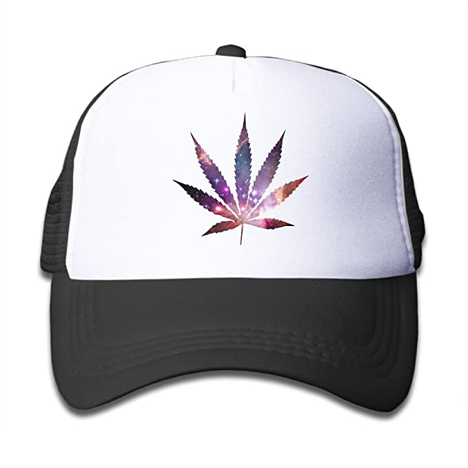 Weed Leaf Rainbow Colorful Baby Mesh Designer Unisex Caps Beanies Hats 60b9af55397d