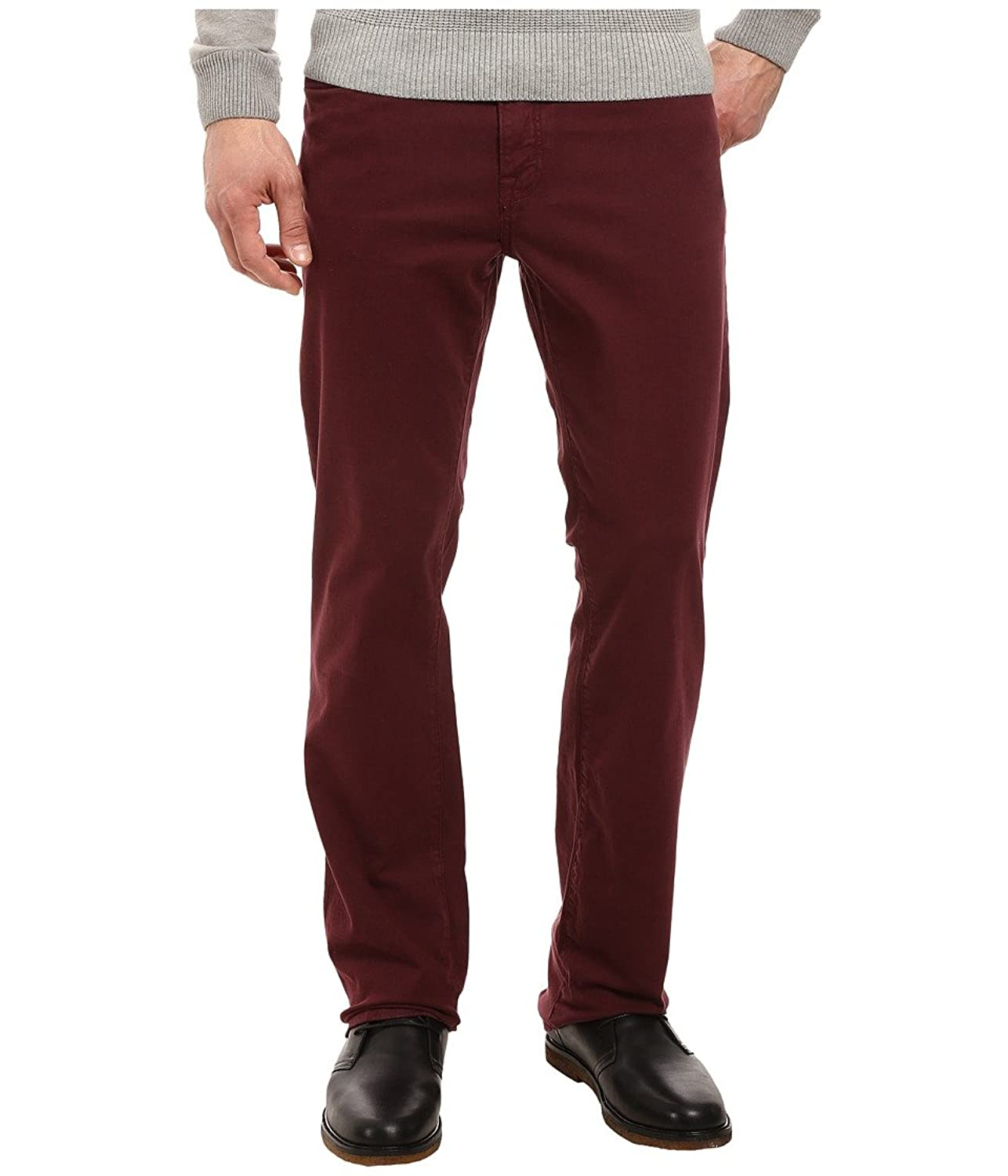 """34 Heritage Mens Charisma Classic Fit in Burgundy Twill 34"""" Inseam"""