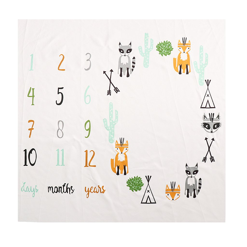 Dolity Baby Blanket First Year Monthly Growth Photography Letter Backdrop Cloth