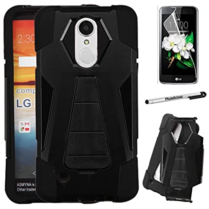 san francisco 74197 7a2d6 For LG FORTUNE Case; LG PHOENIX 3 Case; LG K8(2017) Case, Phonelicious  Heavy Duty [Shock Proof] [Drop Protection] Hybrid Kickstand Rugged Cover +  ...