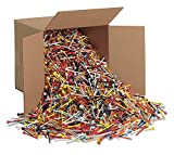 10,000 2 3/4'' Mixed Color Assorted Wood Golf Tees 10,000 Wooden Tees 2 3/4
