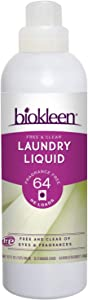 Biokleen Laundry Detergent Liquid, Concentrated, Eco-Friendly, Non-Toxic, Plant-Based, No Artificial Fragrance or Preservatives, 32 Fl Oz (Pack of 6)