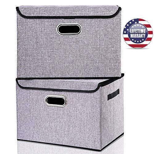 Seckon Collapsible Storage Box Container Bins w...