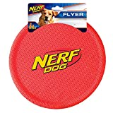 Nerf Dog Nylon Flying Disk Dog Toy, Large, Red