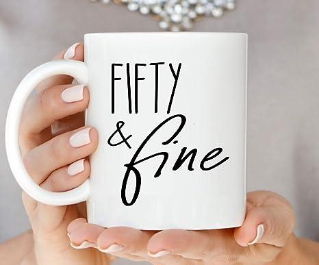 Amazon.com: 50 taza de regalo de 50 cumpleaños para mujer ...