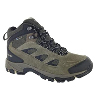 Hi-Tec Men's Hiker Ramsey Waterproof Boots Smokey Brown/Olive/Snow 11 | Hiking Boots