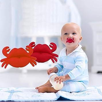 Amazon.com: Chupete de cangrejo para niños con pezón seguro ...