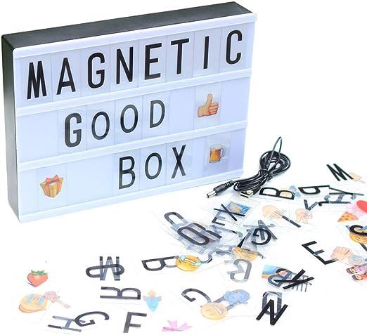 YaptheS Caja de luz A5 Mini Cine con 90 Letras, símbolos y ...