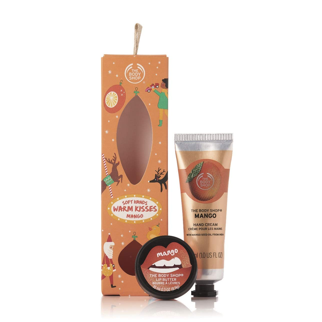 The Body Shop Mango Duo Gift Set, Includes Mango Lip Butter & Hand Cream, Feel Smooth & Moisturized This Holiday Season, Both Are Enriched With Community Trade Mango Seed Oil From India