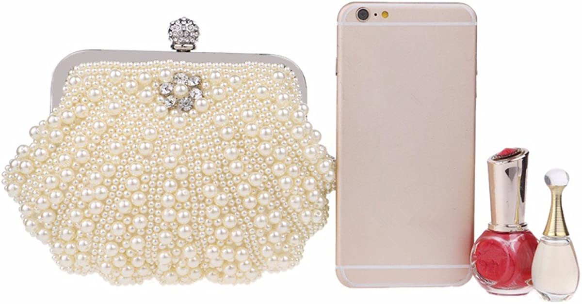 XJTNLB European and American fashion beaded evening bag ladies pearl banquet bag evening clutch