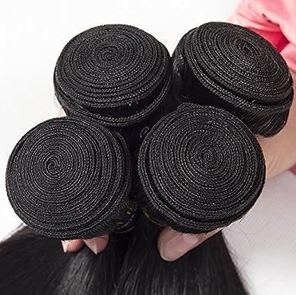 Brasil real pelo cortina cortinas de pelo recto brasileño peluca natural sedoso recto negro pelo europeo,30 inch: Amazon.es: Belleza