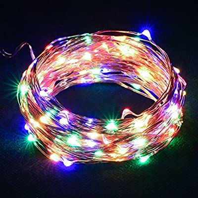 DecorNova String Lights, 39.4ft 120 LED Starry Lights with UL Certified 3V Power Adapter for Garden Patio Wedding Parties Home Bedroom