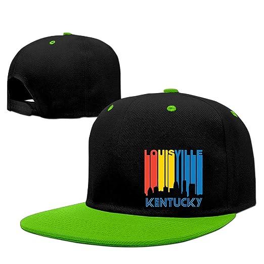 Retro Style Louisville KY Skyline Men s Women s Snapback Baseball Cap  Adjustable Flat Bill Trucker Hats 823b34827