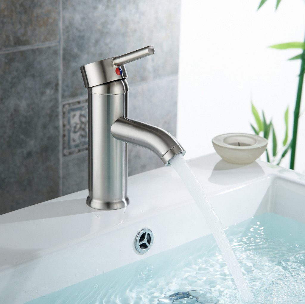 Low Cost Aquafaucet Monoblock Bathroom Sink Vessel Faucet