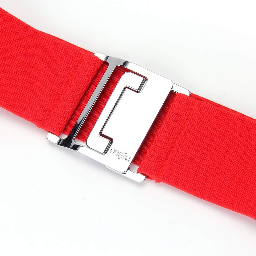 MIJIU Taillen Gürtel Damen Gürtel Elastischer Breiter Taillengürtel Verstellbaren Guertel Mit Legierung Schnalle/7.5CM By Red-1