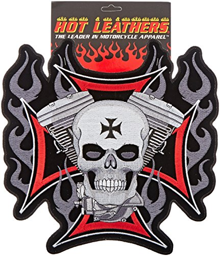 Hot Leathers Cross, Motor And Skull Embroidered Patch (11