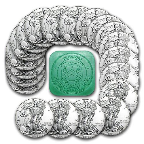 Bullion Silver Bar - 2016 1 oz Silver American Eagle (Tube of 20) Silver Brilliant Uncirculated
