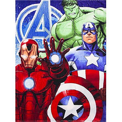 Marvel Avengers Fleece Blanket Single Bed Sized Ironman Hulk Captain America Blanket 100 cm x 150 cm Plaid Coral Fleece Marvel AVENGERS ()