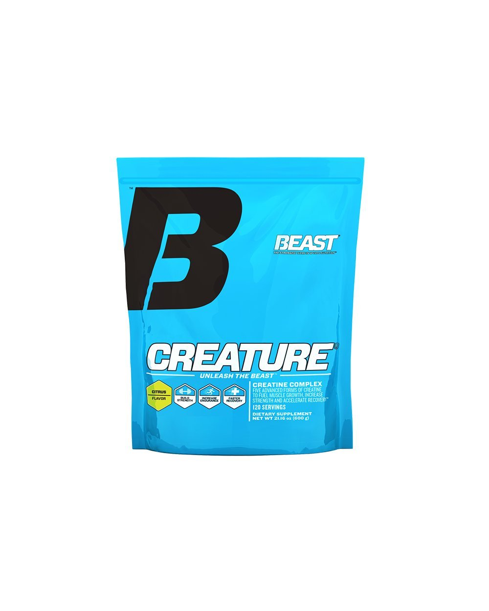 Beast Sports Nutrition, Creature Creatine Complex, Citrus, 21.16 Ounce