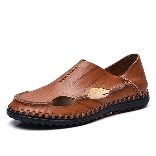 Uomo Pelle Pantofole Scarpe Sandali Da Eleganti Estate sQCtdhrxB