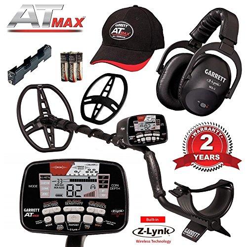Garrett AT Max Metal Detector with Z-Lynk Wireless Headphones Plus Accessories by Garrett