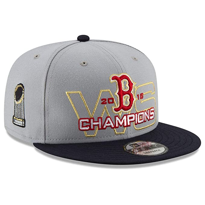 new style 630be fd4bb Image Unavailable. Image not available for. Color  New Era Boston Red Sox  2018 MLB World Series Grey 9FIFTY Snapback Cap Hat