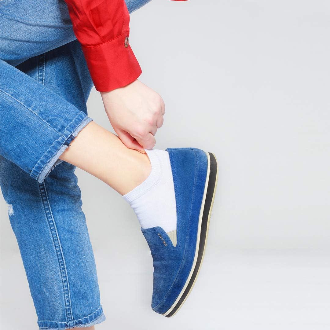 Taglie 35-50 SoftSocks 6 Pairs Calzini per Sneaker Trainer Performance Calze Sportive Low Cut Per Donna Cotone di Qualit/à Fatto in Europa! Uomo e Bambino Nero, Bianco, Denim o Misto