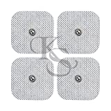 Acuzone 40(2'x2'')pads TENS Snap Electrodes - Premium Quality Snap On Pads