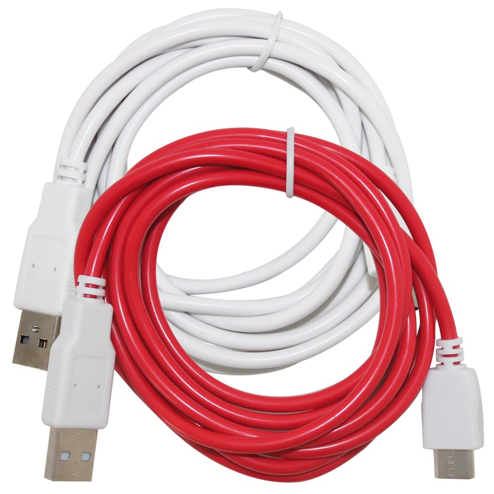 NABi 2S Red AF-Nabi/_cable/_2 NABi Dream Tab and NABi XD Tablets 2 Pcs of Charging Cables Compatible NABi Jr White AFUNTA 6.6ft//2m USB Charger Cord