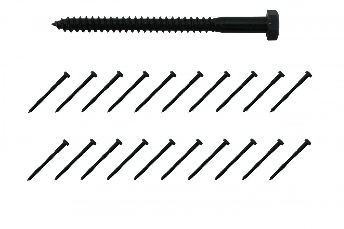 5//16 X 4 Lag Bolt Black Zinc Plated Steel 20 Pack Renovators Supply Renovator/'s Supply