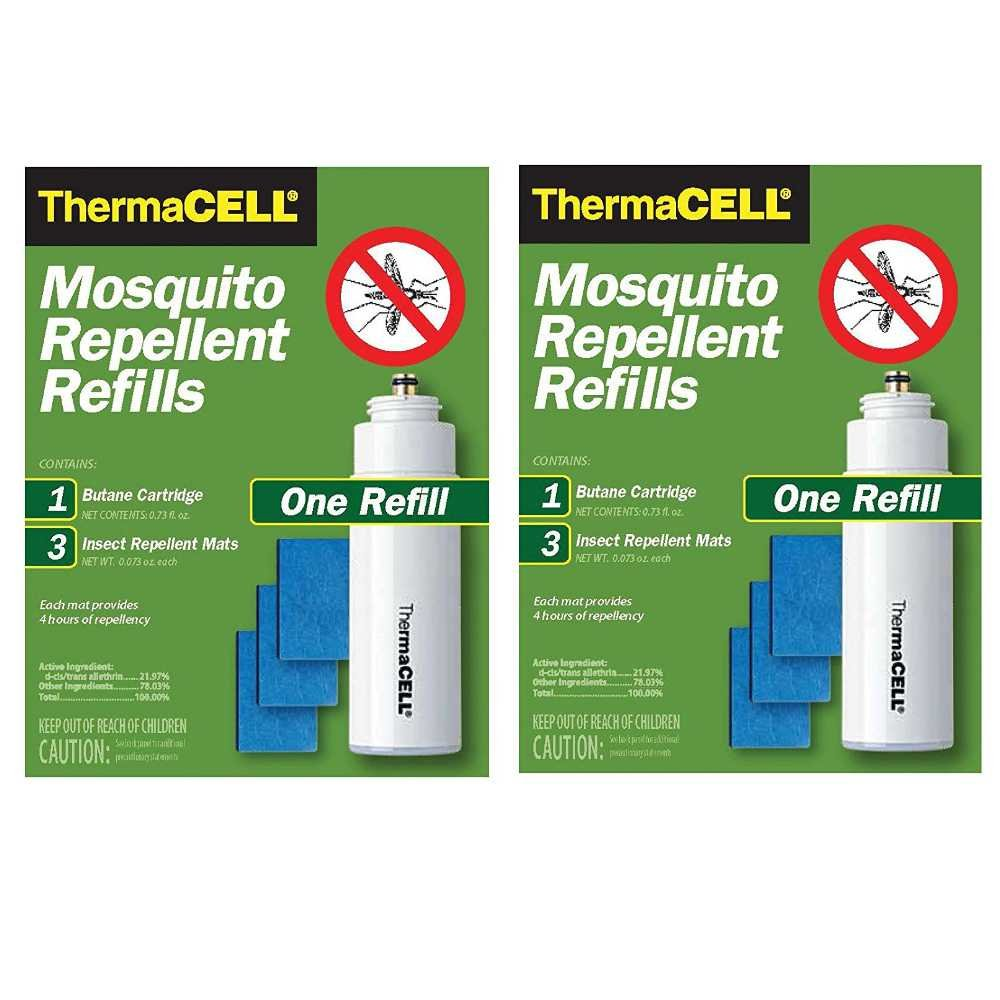 Thermacell Mosquito Repellent 2 Refill Packs for Repellers, Torch and Lanterns (2-Pack: 24 Hours Protection) by Thermacell