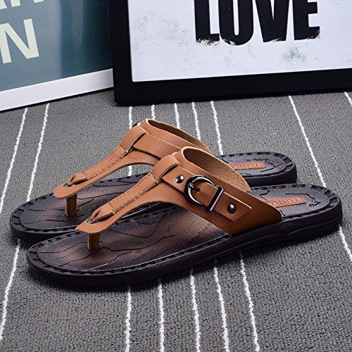 e AIHUWAI Infradito uomo Sandali Outdoor Flops Sandali Uomo Flip Slip Flip pantofole Khaki Flip Sandali da Beach Estate OqIOr