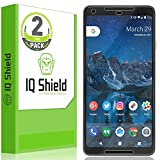 IQShield LiQuidSkin HD Clear Anti-Bubble Film Full Coverage Screen Protector for Google Pixel 2 XL -Pack of 2