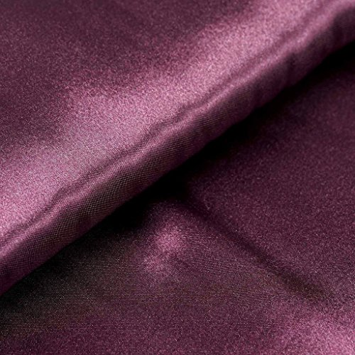 BalsaCircle 54-Inch x 10 yards Eggplant Purple Satin Fabric by the Bolt - Wedding Party Decorations Sewing DIY Crafts Costumes -
