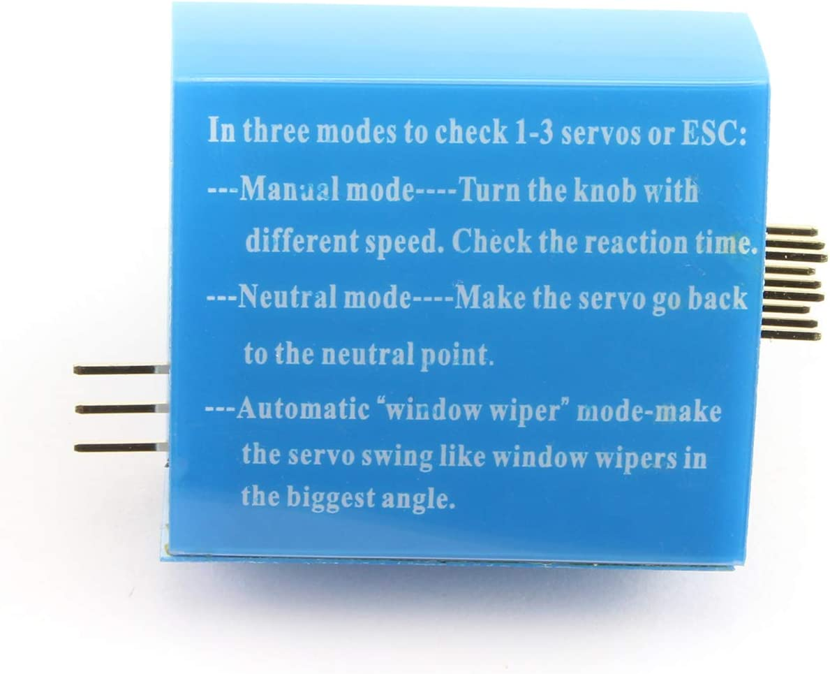 Maxmoral 1-Pack RC Servo Tester 3CH ECS Consistency Speed Controller Power Channels CCPM Meter Master 3 Switch Mode Steering Gear Motor Tester for RC Helicopter Car Boat Models