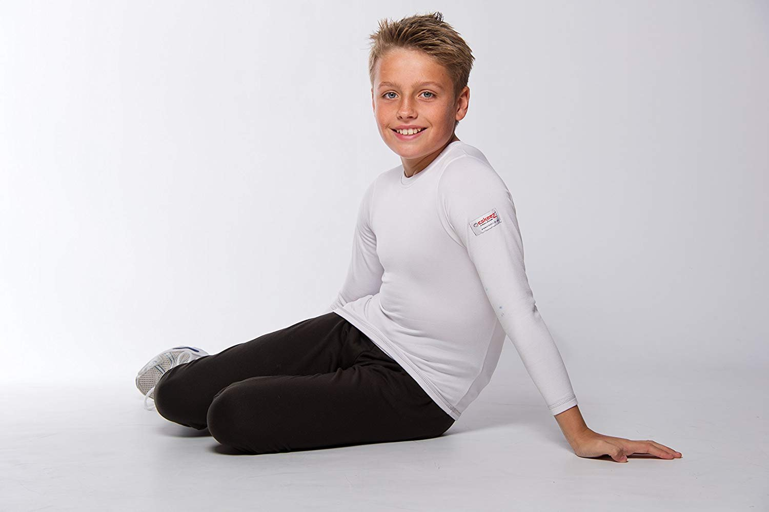 Eskeez Thermal Base Layer Underwear Long Sleeved Junior Top - For Children - Suitable for All Outdoor Activities - White