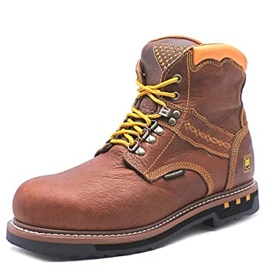 Mens Dan Post Cabot Work Boots Lace Up Soft Toe