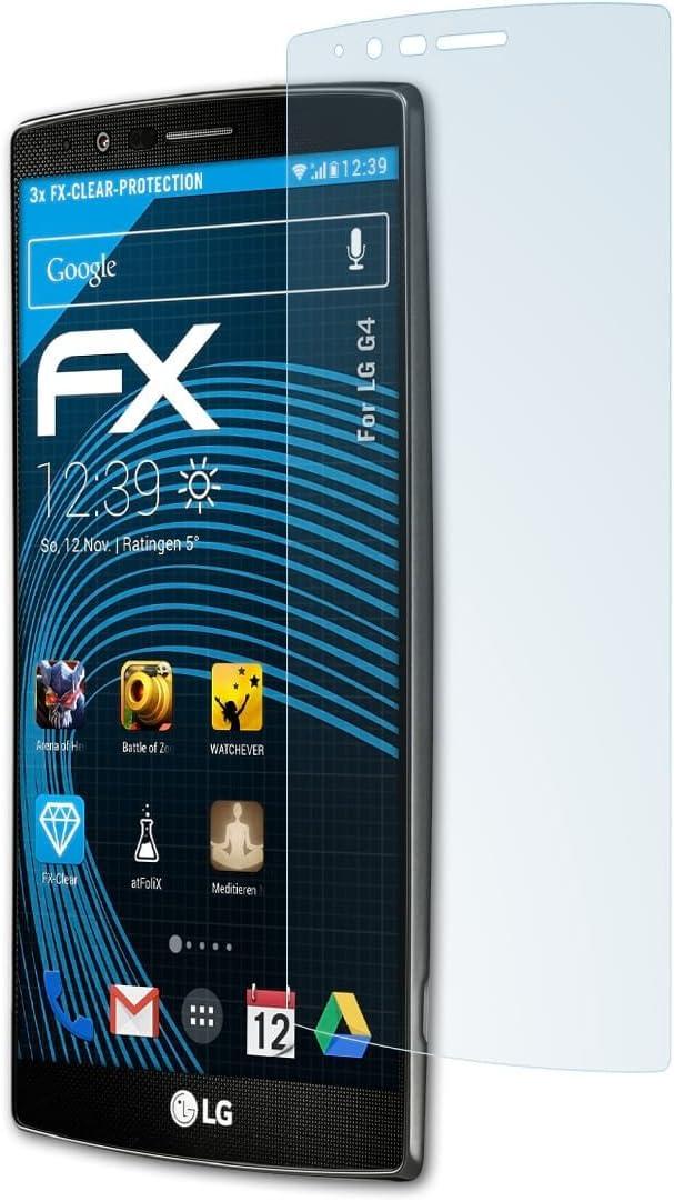 atFoliX Lámina Protectora de Pantalla Compatible con LG G4 ...