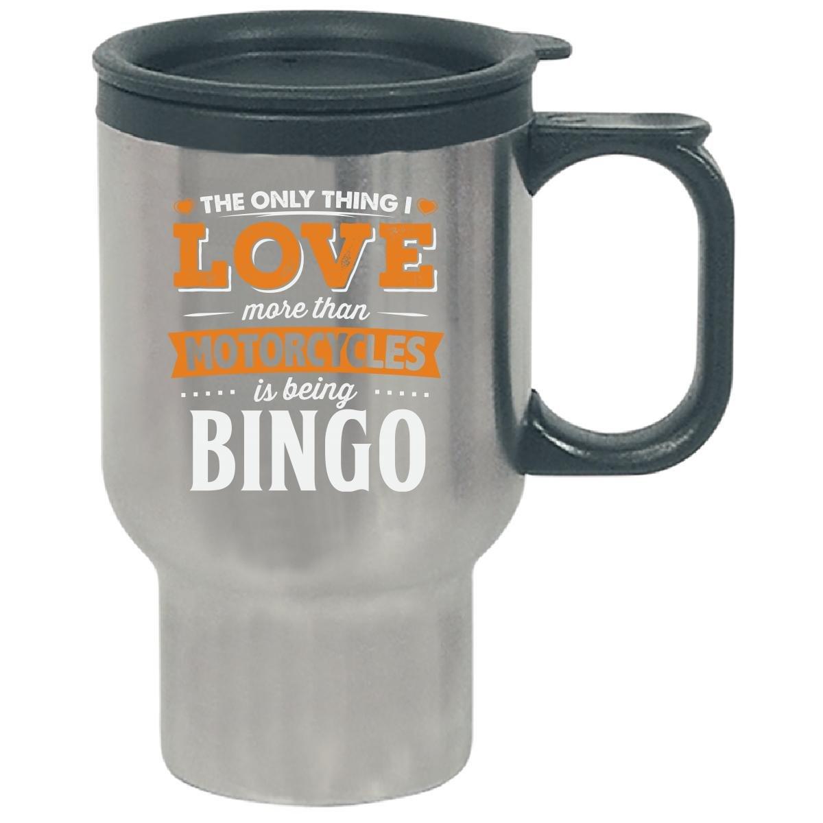 Love Being Bingo More Than Motorcycles Biker Gift - Travel Mug