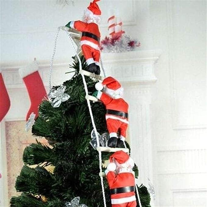Decoraciones de Fiesta de Navidad Adorno de navidad, escalera de cuerda colgante de la muñeca del hogar del regalo de la decoración de Santa Claus, Santa Claus decoración de la Navidad Accesorio