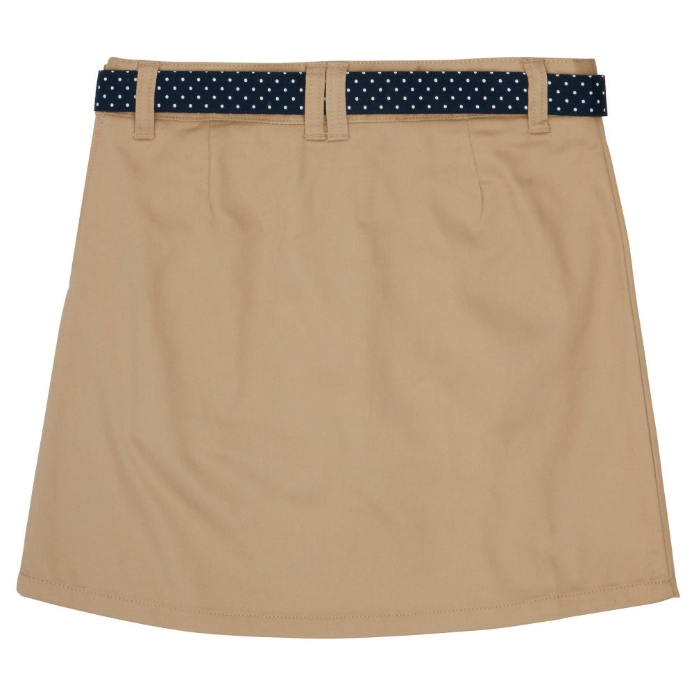 French Toast Big Girls' Polka Dot Belted Scooter, Khaki, 7 by French Toast (Image #3)