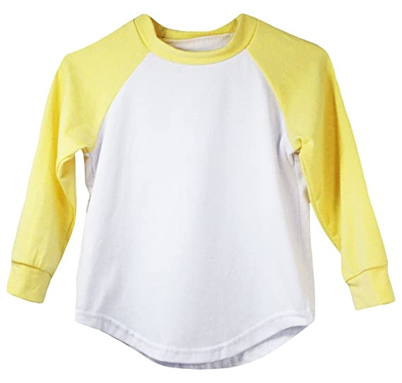 c5889af5 Amazon.com: Dress Up Dreams Boutique Yellow Long Sleeve Raglan Baseball T-Shirt:  Clothing