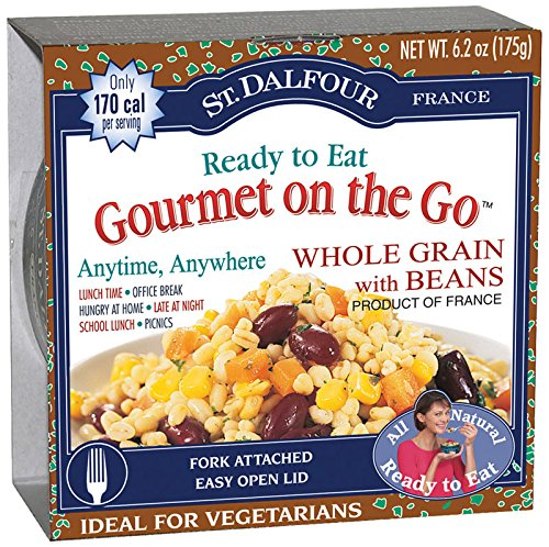 St. Dalfour Gourmet On The Go, Ready to Eat  Whole Grain with Beans, 6.2-Ounce Tins (Pack of 6) (Grain Tin)